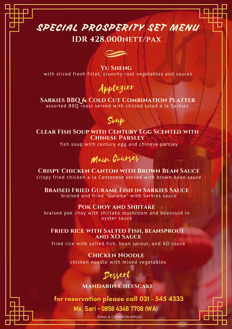 Chinese New Year Celebration – Majapahit Hotel Surabaya