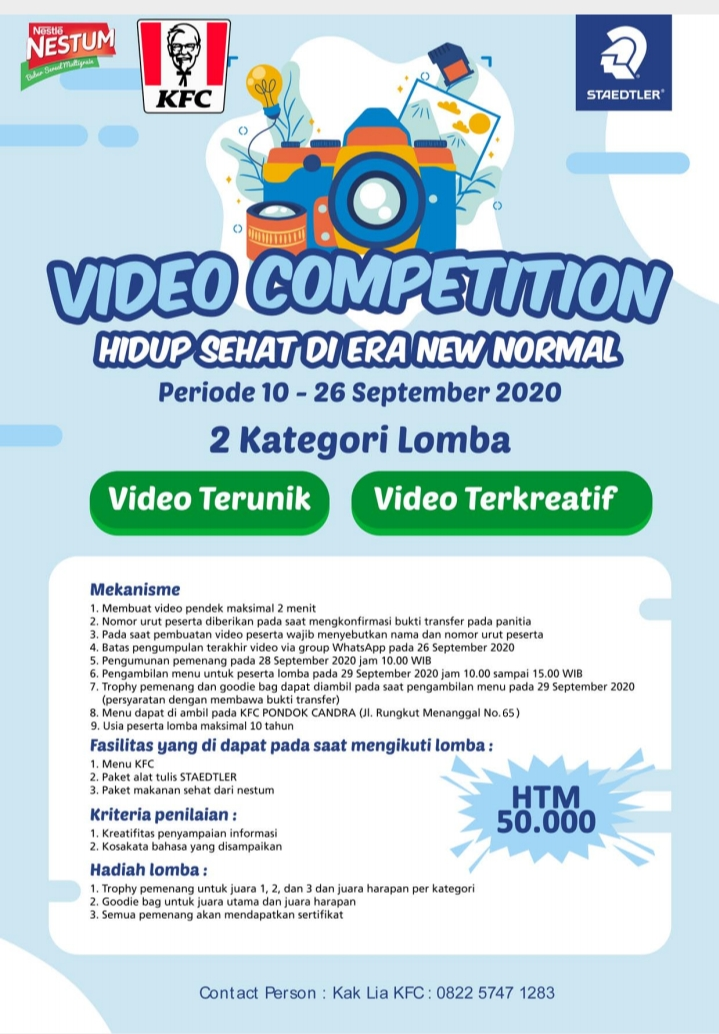 Video Competition – Hidup Sehat di Era New Normal