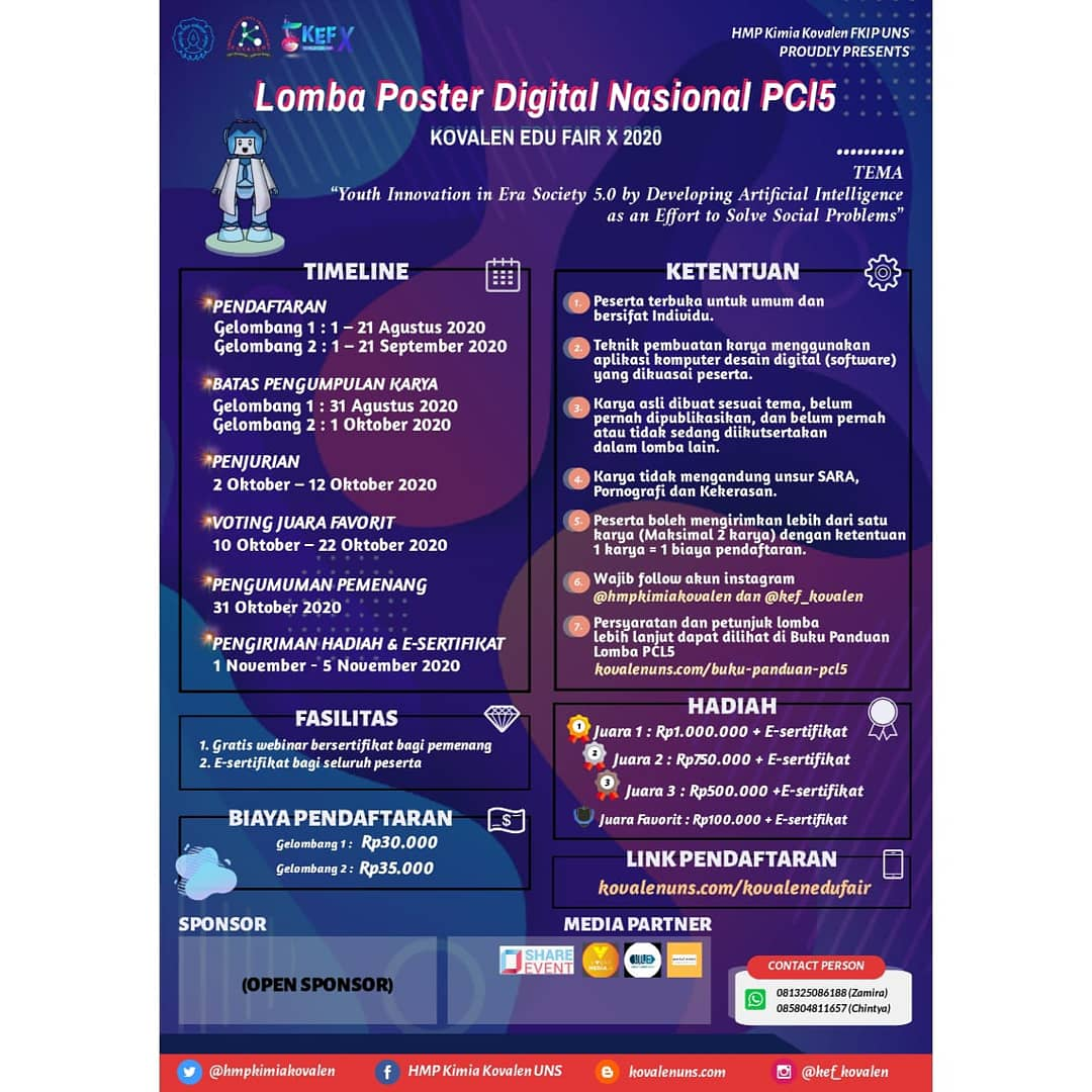 KOVALEN EDU FAIR X : CALL FOR LOMBA POSTER DIGITAL NASIONAL PCl5 image 2